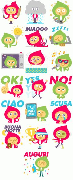 Line Stickers - Best Friends For Life by Mauro Gatti, via Behance
