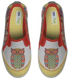 Funky Owl Shoes: Fun Whimsical Footwear for People Who Love Owls