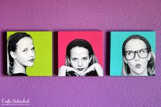 DIY pop art wall decor