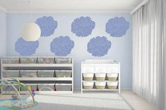 Transform your home with a large Peony Wall Stencil and Folk Art Home Decor Chalk paint
