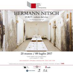 Mostra Arte Contemporanea dedicata al Maestro Hernamm Nitsch presso il Centro Italiano Arte Contemporanea di Foligno