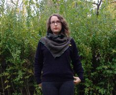 Green Cowl. Cotton Knit. Upcycled Recycled. Eco Friendly by blissjoybull, $30.00