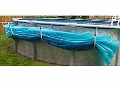 Aboveground Swimming Pool Solar Blanket Cover Saddle - Set of 5 Brackets 799331310208 Above Ground Pool Landscaping, Above Ground Pool Decks, Backyard Pool Landscaping, Above Ground Swimming Pools, In Ground Pools, Patio, Diy Pool, Swimming Pools Backyard, Pool Cover Roller