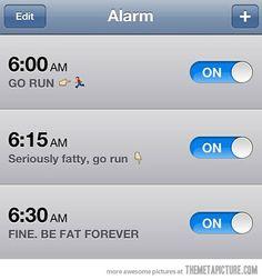 Motivational Alarm, I need this.