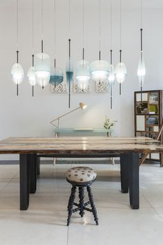 m i n t , l o n d o n ... venetian lagoon chandeliers by designer Nao Tamura