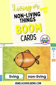 Boom Cards - Looking for resources to assess little ones' understanding of living and non-living things? These colorful Living and Nonliving Things Science BOOM Cards™ will do the trick! Included in this resource is a link to access 25 Digital Task Cards (1 card per slide) on the BOOM Learning℠ website and Teacher Notes for using these BOOM Cards™ in your classroom. Help your Kindergarten or Preschool kids differentiate between living and non-living things in no time. Click to learn more.
