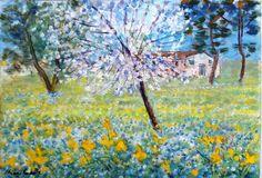 Michele Cascella - Landscape, Oil on canvas