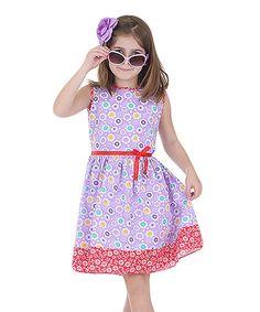 Purple & Red Sam de Fleur Dress & Hat - Infant, Toddler & Girls