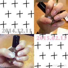 jell nail snow + selfnail dot