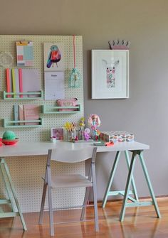 18 DIY Pegboards to Organize Every Room. More inspiration: http://messagenote.com/interior-inspiration/interior-designs-of-the-week
