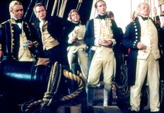 Aubrey, Maturin, Mowett, Pullings and Allen of HMS Surprise