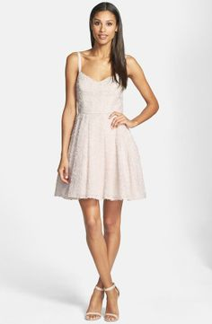 French Connection  Glitter Whisper  Back Bow Fit & Flare Dress