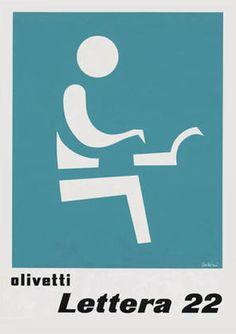 Olivetti Lettera 22 Poster  designed by Leo Lionni for the Olivetti Lettera 22 - 1956