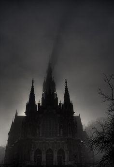 church & fog by bartosz miskiewicz on Flickr.