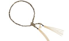 Carolina Bucci woven gold lucky bracelet My Wish List, Get The Look, Tassel Necklace, Eve, Watches, Star, Detail, Bracelets, Gold