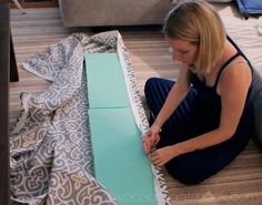 Ocean Front Shack: DIY Bench Cushion with glue gun
