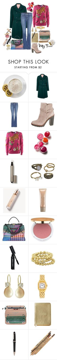"""My Time"" by carlagoiata ❤ liked on Polyvore featuring Mr. Coffee, Paul & Joe Sister, J Brand, Kate Spade, Gucci, Clinique, Laura Mercier, Mudd, Burberry and Fendi"
