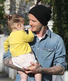 """Harper Beckham Called David Beckham """"Chubby"""" #refinery29  http://www.refinery29.com/2015/01/81522/harper-beckham-david-beckham-chubby"""