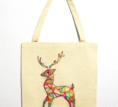 Christmas Deer Bez Çanta #totebag