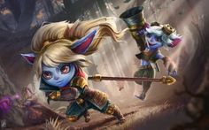 Poppy, Tristana & Lulu by TheMaestroNoob HD Wallpaper Fan Art Artwork League of Legends lol