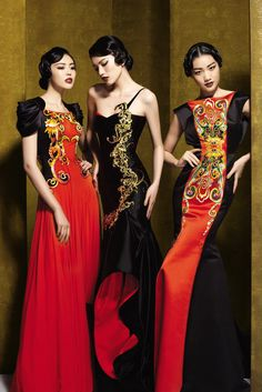 NE-Tiger is a Chinese couture brand with so many gorgeous things that I didn't k. NE-Tiger i Fashion Moda, Look Fashion, Womens Fashion, Fashion Design, Ladies Fashion, Street Fashion, Luxury Fashion, Cheongsam, Asian Style
