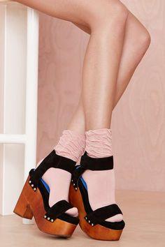 Jeffrey Campbell McCloud Platform Sandal   #streetstyle