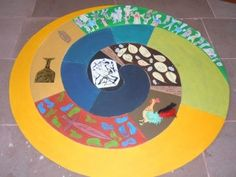 Bodenbild Passionszeit Godly Play, Prayer Room, Religious Education, Easter Weekend, Holy Week, Lent, Primary School, Worship, Mosaic