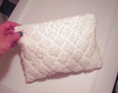 Hey, I found this really awesome Etsy listing at https://www.etsy.com/listing/69308162/winter-white-fuzzy-purse