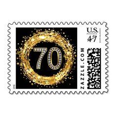 Diamond Bling Number 70 Glitter Confetti | gold
