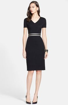 St. John Collection Intarsia Detail Mod Piqué Knit Dress available at #Nordstrom