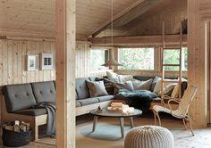 Hedda – en investering for generasjoner — Hedda Hytter Tiny House Cabin, Tiny House Plans, Cabana, Cabin Design, House Design, Living Room Decor, Living Spaces, Scandinavian Cottage, Chalet Interior