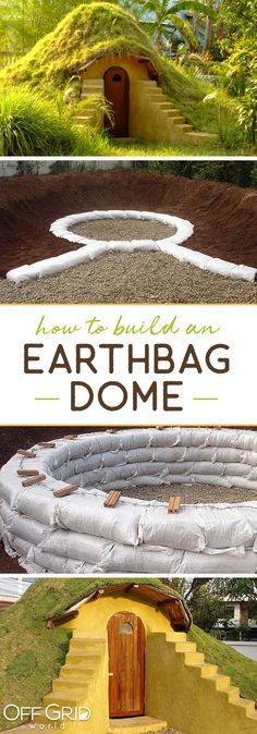 Earthbag homes are affordable, sustainable, and beautiful Earth Bag Homes, Earthship Home, Underground Homes, Natural Homes, Dome House, Natural Building, Little Houses, The Great Outdoors, Building A House
