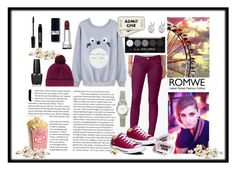 """""""Romwe"""" by annamatrix ❤ liked on Polyvore featuring Converse, Fendi, Rock 'N Rose, H&M, Lord & Berry and OPI"""