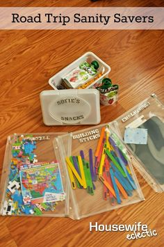 Housewife Eclectic: Road Trip Sanity Savers. Things to keep your kids busy while stuck in the car. #TreeTopInc #raisinggoodapples #Pmedia #ad