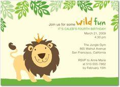 Jungle Party Invitation Ideas