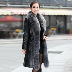 2016 Women's Genuine Sheepskin Leather Suede Down Parkas Coat Jacket with Fox Fur Collar. Gender: WomenOuterwear Type: Leather & SuedeStyle: FashionBrand Name: LordFurLining Material: PolyesterCollar: V-NeckModel Number: VK1097Closure Type: Single BreastedMaterial: SheepskinSleeve Style: RegularDecoration: Adjustable Waist,Pockets,Fur,ZippersDetachable Part: NoneSleeve Length(cm): FullClothing Length: X-Longfront fly: buttonsuitable age: 25 - 39 year oldmaterial: sheepskin leatherfeature…