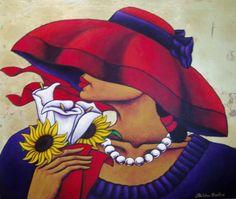 AFRICAN AMERICAN ART PRINT Red Rose by LaShun Beal