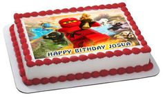 Lego Ninjago 3 Edible Birthday Cake Topper