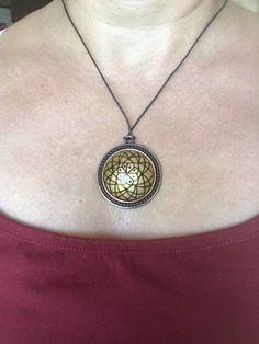 Mandala necklace, mandala pendant, adjustable jewelry, mandala jewelry, indian jewellery, Spiritual chain, charm, boho ethnic jewelry,bronze by TegmenMandalaArt on Etsy
