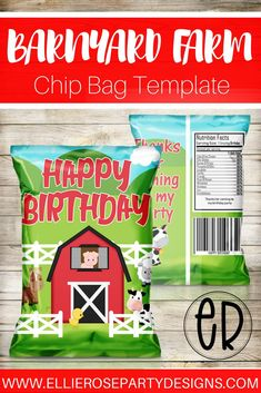 Having a Barnyard Birthday Party? Why not add these adorable Barnyard Farm favor bags / chip bags to your boys party or girls party Mcdonalds Birthday Party, Birthday Party At Home, Party Favors For Kids Birthday, Kids Birthday Themes, Farm Birthday, Boy Birthday Parties, Summer Birthday, Farm Party, Barnyard Party
