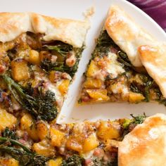 Butternut Squash, Broccolini and Pancetta Crostata with Fontina Cheese