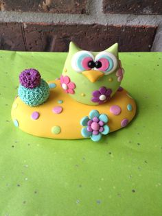 Hey, I found this really awesome Etsy listing at https://www.etsy.com/listing/271371494/green-and-yellow-owl-centerpiece