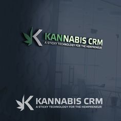 This logo goes with the movement of the half of the K and the cannabis really well. The line in between makes it look like a reflection even though they are totally different.