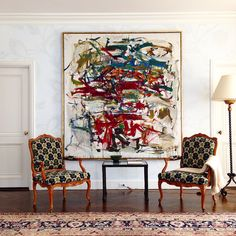 Joan Mitchell and Louis XV, installation in an apartment on the east River