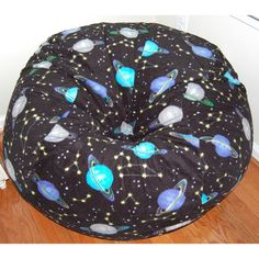 Ahh Products Outer Space Fleece Washable Bean Bag Chair (outer space), Multi (Polyester)