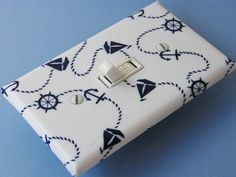 NAUTICAL SAILING Switchplate Light Switch Plate Outlet Cover - Blue White Boat Anchor Wheel. $10.00, via Etsy.