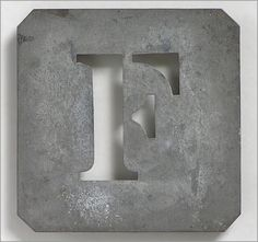 Vintage French Stencils | The Vintage Wall - Early 1900s French zinc metal letter stencil: 'F'