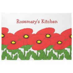 Poppies Just Add Name Towel