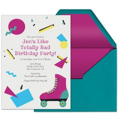105 best birthday invitations cards and ideas images on pinterest host a like totally rad birthday party with this premium invitation from evite if you filmwisefo