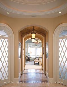 Contemporary Home Foyer Art Hallway Design Naples FL